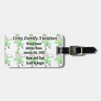 Cute St Patrick s Day Dancing Leprechaun Tag For Luggage