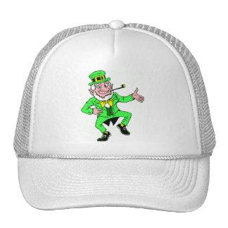 Cute St Patrick s Day Dancing Leprechaun Mesh Hat