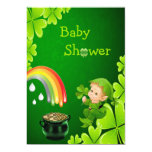 Cute St. Patrick's Day Baby Shower 13 Cm X 18 Cm Invitation Card
