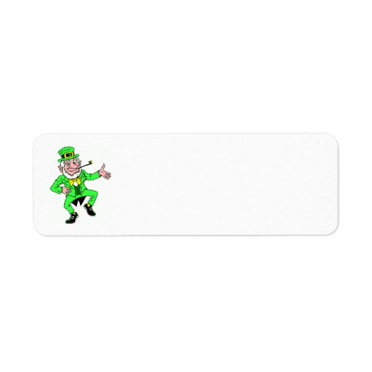 Cute St. Patrick's Day | Leprechaun Jig Return Address Label