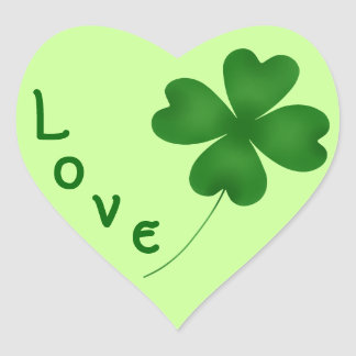 Cute St. Patrick's Day lucky shamrock Stickers