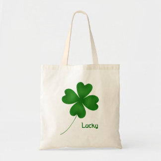 Cute St. Patrick's Day lucky shamrock Tote Bag