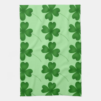 Cute St. Patrick's Day lucky shamrocks Tea Towel