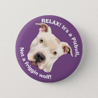Cute Staffordshire Terrier Pitbull Puppy 6 Cm Round Badge