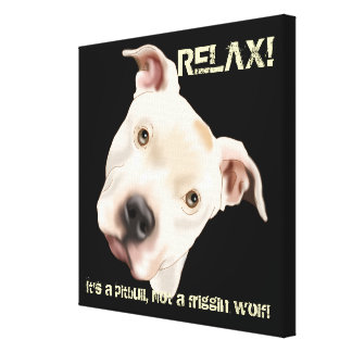 Cute Staffordshire Terrier Pitbull Puppy Canvas Print