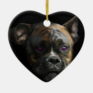 Cute Staffy Dog Puppy Ceramic Heart Decoration