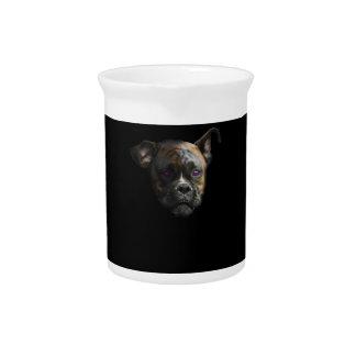 Cute Staffy Dog Puppy Pitcher