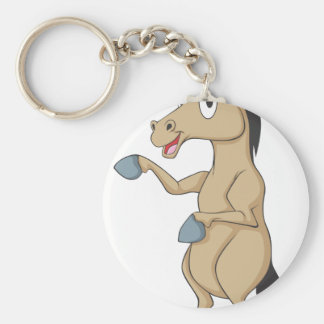Cute Standing Horse Poingting Hand Up Showing Keychains