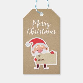 Cute Standing Santa Christmas Gift Tag