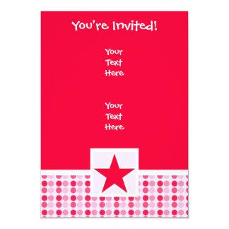 Cute Star 13 Cm X 18 Cm Invitation Card