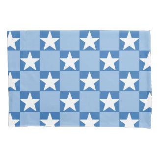 Cute star checkerboard pattern pillowcase