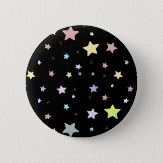 Cute star pattern 6 cm round badge