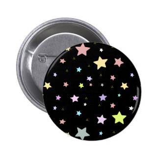Cute star pattern 6 cm round badge