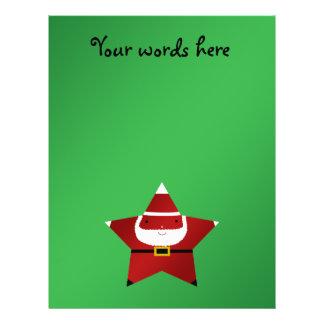 Cute star santa claus full color flyer