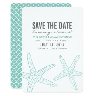 Cute Starfish Save the Date Card 13 Cm X 18 Cm Invitation Card
