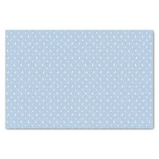 Cute Stars and Moons on Pale Blue Pattern Tissue Paper