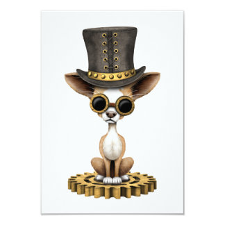 Cute Steampunk Chihuahua Puppy Dog Card