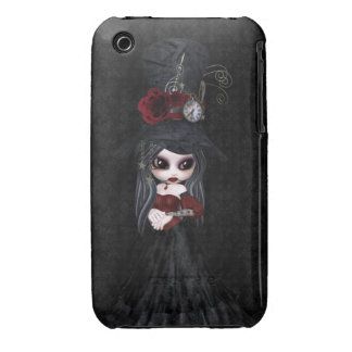 Cute Steampunk Goth Girl iPhone 3 Case