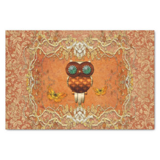 Cute steampunk owl tissue paper
