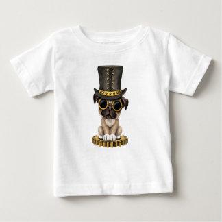 Cute Steampunk Pug Puppy Dog Baby T-Shirt