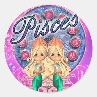 Cute Stickers Pisces Zodiac Mermaids