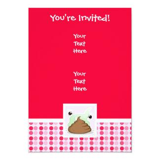 Cute Stinky Poo 13 Cm X 18 Cm Invitation Card