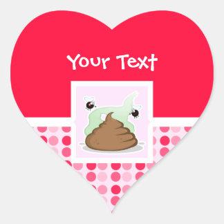 Cute Stinky Poo Heart Sticker