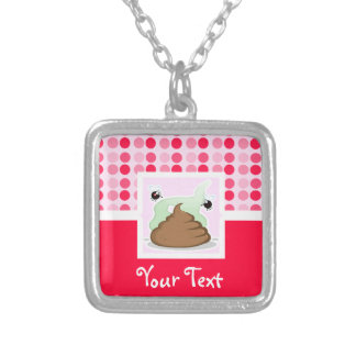 Cute Stinky Poo Silver Plated Necklace