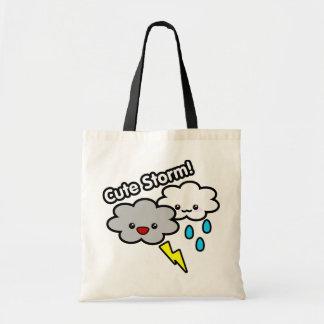 Cute Storm tote Budget Tote Bag
