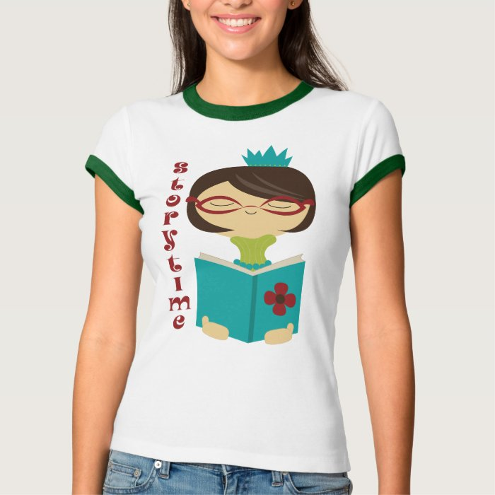 Cute Storytime Reading Lady Book Tee Shirt Gift