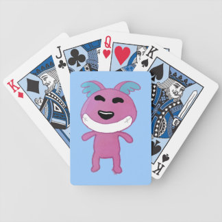 Cute strange dog bicycle poker cards