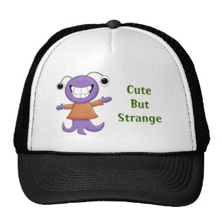 Cute Strange Purple Alien Cartoon Character Cap