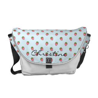 Cute Strawberries Messenger Bags