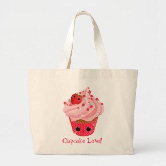 Cute Strawberry Cupcake Canvas Bags