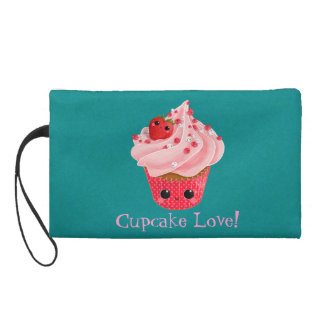 Cute Strawberry Cupcake Wristlets
