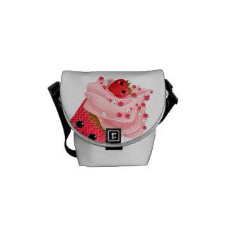 Cute Strawberry Cupcake Courier Bag