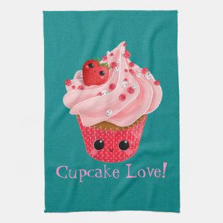 Cute Strawberry Cupcake Tea Towel