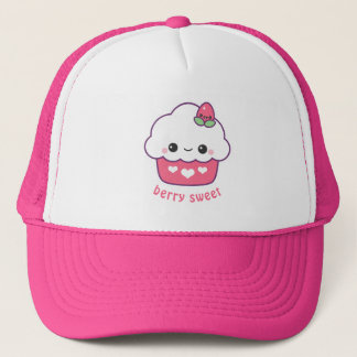 Cute Strawberry Cupcake Trucker Hat