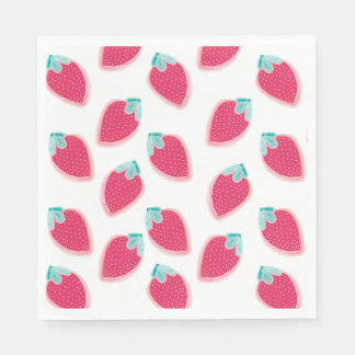 Cute Strawberry Fruit Pattern Paper Napkins