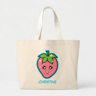 Cute Strawberry Jumbo Tote Bag