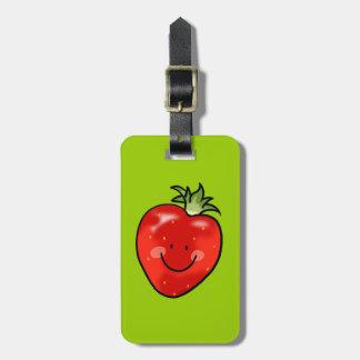 Cute strawberry luggage tag