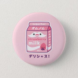 Cute Strawberry Milk 6 Cm Round Badge