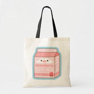 Cute Strawberry Milk Tote Bag