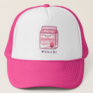 Cute Strawberry Milk Trucker Hat