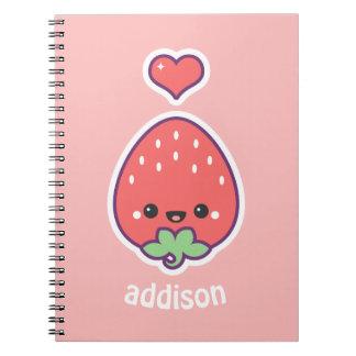 Cute Strawberry Notebooks