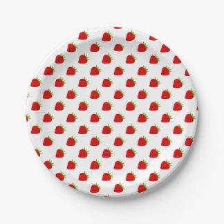 Cute Strawberry Pattern Paper Plate