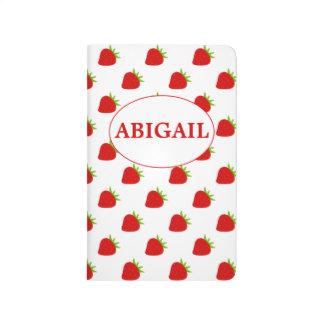 Cute Strawberry Pattern Personalized Journal