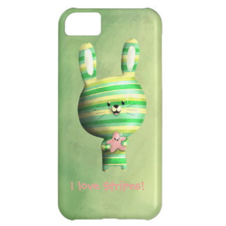 Cute Striped Bunny iPhone 5C Cases