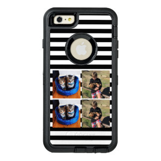 Cute striped photo collage OtterBox iPhone 6/6s plus case