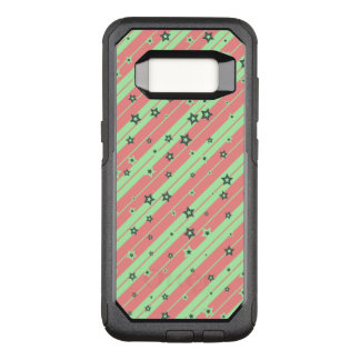 Cute striped Stars for Girls OtterBox Commuter Samsung Galaxy S8 Case